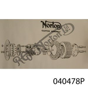 POSTER - VIEW OF 3 SPRING NORTON CLUTCH