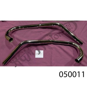 SWEPT BACK EXHAUST PIPES FOR STANDARD DOMINATOR (PAIR) 1 1/2""