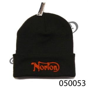 GRAPHITE GREY WOOLLY HAT WITH 'NORTON' LOGO