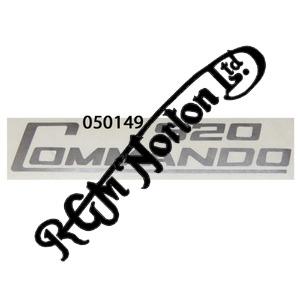 920 COMMANDO SIDE PANEL DECALS, SILVER (PR)