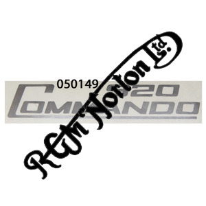 920 COMMANDO SIDE PANEL DECALS, SILVER (PR)