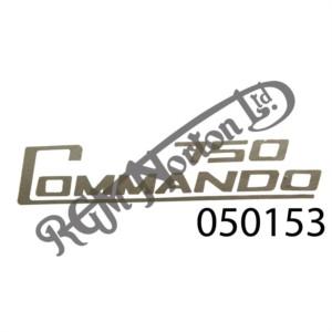 750 COMMANDO SIDE PANEL DECAL, SILVER