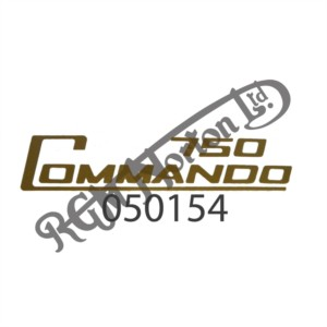 750 COMMANDO SIDE PANEL DECAL, GOLD