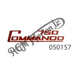 750 COMMANDO SIDE PANEL DECAL, RED