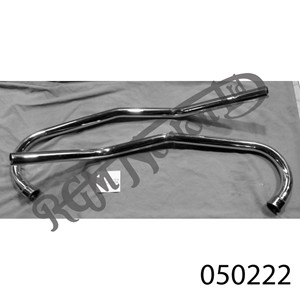 """SWEPT BACK EXHAUST PIPES FOR COMMANDO (PAIR) 1 3/8"""""""