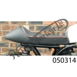 MANX SEAT BLACK WITH RED PINSTRIPE, SLIMLINE, SOLO