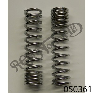 SHOCK ABSORBER SPRINGS, CHROME DUAL RATE, RACE/SOLO ONLY [PAIR]