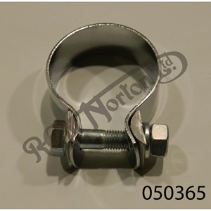 """EXHAUST CLAMP 1 1/2"""" (1 5/8"""" 41.27MM) CHROMED STEEL"""