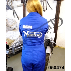 "RGM MOTORS ROYAL BLUE BOILER SUIT, POLYESTER/COTTON SIZE 45 1/2"" REGULAR"