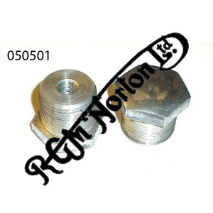 """FORK ALLOY STANCHION TOP NUTS SHORT 3/8"""" UNF [PAIR]"""