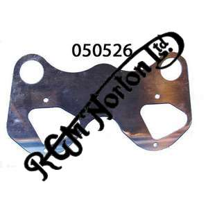 "POLISHED STAINLESS TWIN INSTRUMENT BRACKET FOR CAFE RACERS 7"" YOKES"