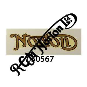 """""""NORTON"""" TRANSFER, GOLD WITH BLACK OUTLINE, SMALL"""