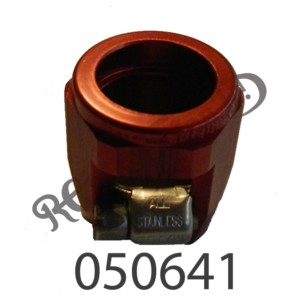 """RED ANODISED ENCAPSULATED JUBILEE CLIP FOR 3/8"""" BORE HOSE"""