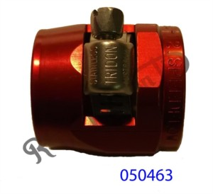 """RED ANODISED ENCAPSULATED JUBILEE CLIP FOR 1/2"""" BORE HOSE"""
