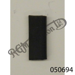 BLACK RUBBER U CHANNEL 8MM HIGH, 1.4MM SIDE WALL (SOLD BY THE INCH)