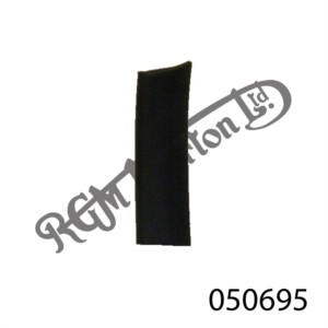 BLACK RUBBER U CHANNEL 10MM HIGH, 1.2MM SIDE WALL (SOLD BY THE INCH)