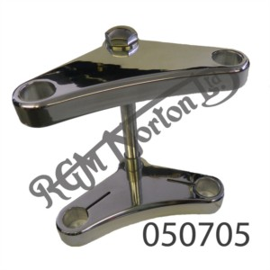 """7 3/8""""PAIRS OF ALLOY YOKES COMPLETE WITH FASTENINGS FOR COMMANDO 2 13/16"""" OFFSET"""