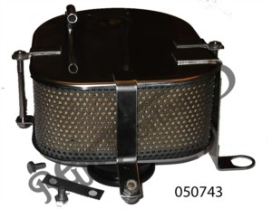 COMPLETE SINGLE CARB AIR FILTER ASSEMBLY, STAINLESS STEEL