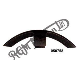 "BLACK FIBREGLASS FRONT MUDGUARD FLATTER PROFILE - 25"" LONG X 5 WIDE"