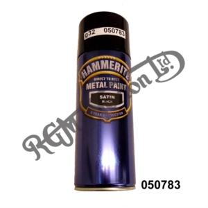 HAMMERITE SATIN BLACK DIRECT TO RUST METAL PAINT 400ML