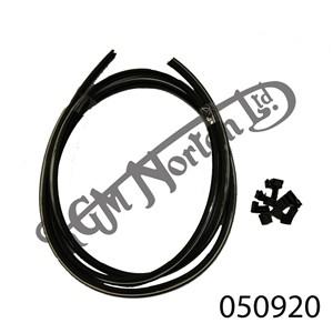 CHROME/BLACK SEAT TRIM FINISHER KIT