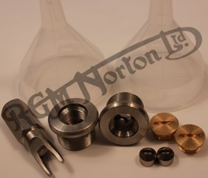 FORK STANCHION TOP NUTS (SHORT TYPE) WITH OIL FILLING PLUG