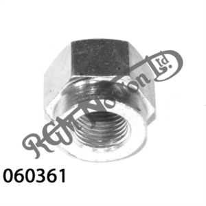 FRONT ORIGINAL, PLATED WHEEL SPINDLE NUT FOR COMMANDO (18 T.P.I.)