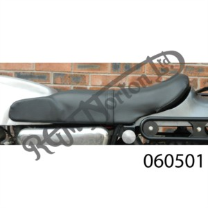 FASTBACK SEAT BLACK WITH EARS, UK MADE, STEEL BASE