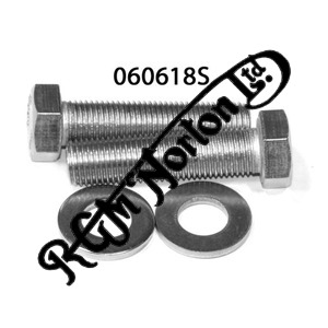 PILLION FOOTREST LUG  3/8 UNF,  BOLTS AND WASHERS  (2)