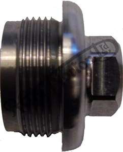 "OIL TANK FEED UNION THREADED BOSS FOR 3/8"" SPIGOT OUTPUT (RAW MATERIAL)"