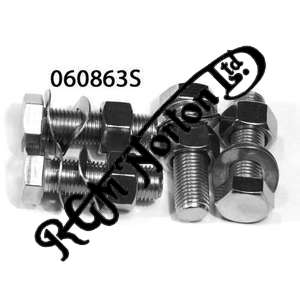 """SILENCER PLATES TO Z PLATES BOLTS (1 3/16"""" U.H), NUTS AND WASHERS 3/8 UNF (4)"""