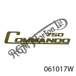 """750 COMMANDO"" GOLD/BLACK BORDER DECAL"