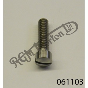 """RAISED CHEESEHEAD (FILISTER) 1"""" X 1/4"""" BSW SCREW, STAINLESS"""