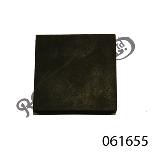"RUBBER PAD 1.5"" X 1.5"" X 0.12"""