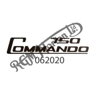 750 COMMANDO SIDE PANEL TRANSFER, BLACK