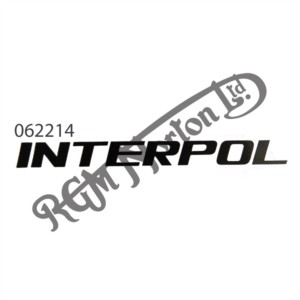 """INTERPOL"" BLACK DECAL"