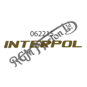"""INTERPOL"" GOLD DECAL"