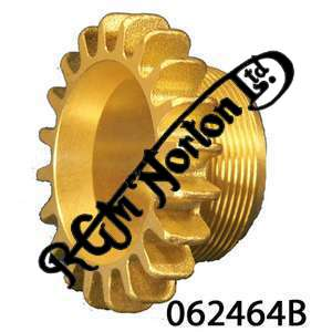 """EXHAUST ROSE FOR TWIN CYLINDER IN BRASS UNPLATED, 1946-73 3/4"""" THREADED LENGTH"""