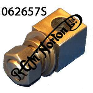 PRIMARY CHAIN TENSIONER ANCHOR BLOCK, NUT AND WASHER FOR COMMANDO
