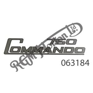 750 COMMANDO SIDE PANEL TRANSFER, SILVER/BLACK