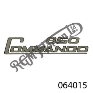 850 COMMANDO SIDE PANEL DECAL, SILVER/BLK BORDER