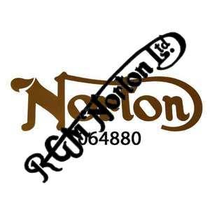 NORTON TANK DECAL, GOLD