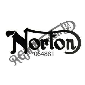 NORTON TANK DECAL, BLACK
