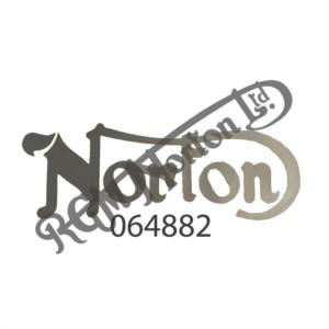 NORTON TANK DECAL, SILVER