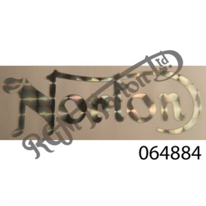 'NORTON' SILVER PEARLESCENT TANK DECAL