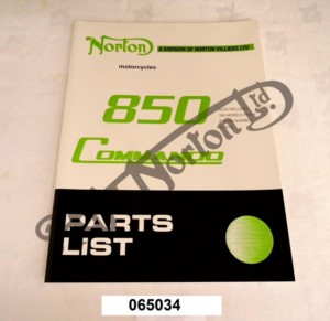 750/850 COMMANDO PARTS BOOK 1973/74 (EXPLODED DIAGRAMS & PARTS NUMBERS)