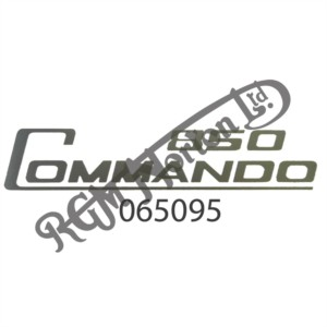 850 COMMANDO SIDE PANEL DECAL, SILVER