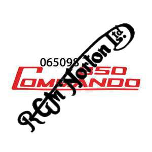 850 COMMANDO SIDE PANEL DECAL, RED