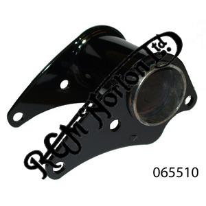 FRONT ISOLASTIC ENGINE MOUNT TUBE, BLACK STEEL, SHORT MK3