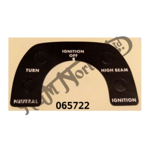 IGNITION CONSOLE DECAL, 850 MK3
